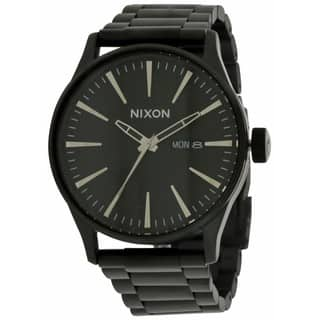 Nixon The Sentry Black Stainless Steel Men's Watch|https://ak1.ostkcdn.com/images/products/14593895/P21139027.jpg?impolicy=medium