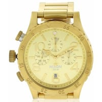 Nixon Geo Volt Chronograph Men's Goldtone Stainless Steel Watch