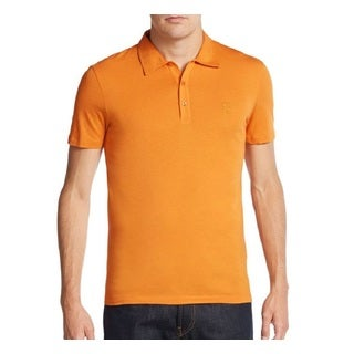 Versace Collection Men's Orange Medusa Polo T-shirt