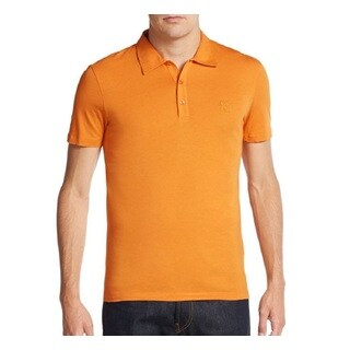 Versace Collection Men's Orange Medusa Polo T-shirt (2 options available)