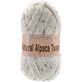 Natural Alpaca Tweed Yarn-Raw Cotton