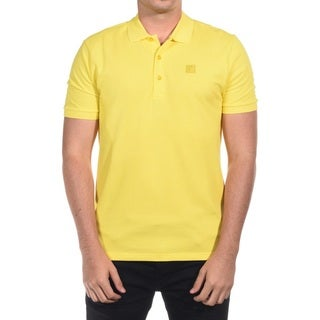 Versace Collection Men's Medusa Yellow Cotton Polo T-shirt