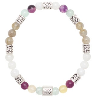 Healing Stones for You Aquarius Zodiac Bracelet Size 7.5