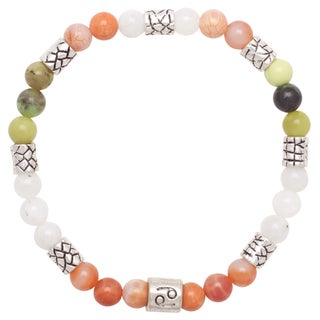 Healing Stones for You Cancer Zodiac Bracelet Size 7.5