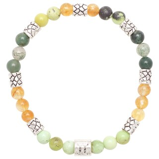 Healing Stones for You Gemini Zodiac Bracelet Size 7.75 (USA)