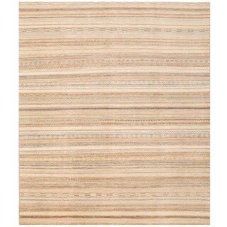 Herat Oriental Afghan Hand-knotted Gabbeh Wool Rug (8'2 x 9'7)