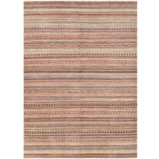 Herat Oriental Afghan Hand-knotted Gabbeh Wool Rug (8' x 10'11)