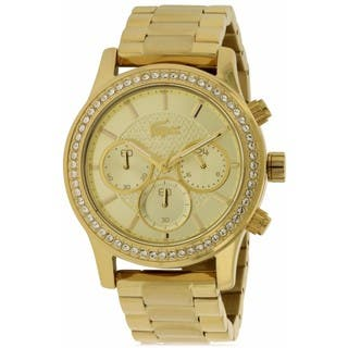 Lacoste Charlotte 2000835 Goldtone Stainless Steel Ladies' Watch|https://ak1.ostkcdn.com/images/products/14594029/P21139126.jpg?impolicy=medium