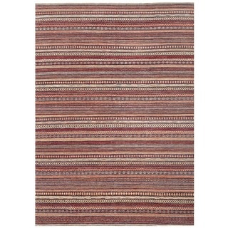 Herat Oriental Afghan Hand-knotted Gabbeh Wool Rug (8' x 11'5)