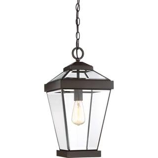 Quoizel Ravine Brown Brass Large Hanging Lantern