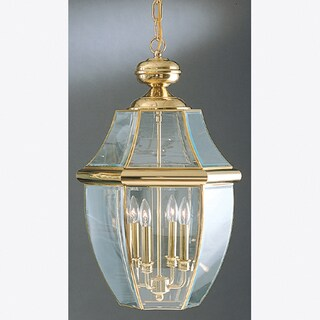 Quoizel Newbury Gold Finish Brass Extra-large Hanging Lantern