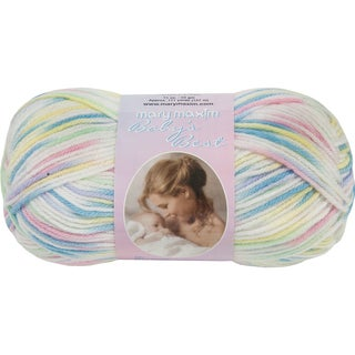 Mary Maxim Baby's Best Yarn-Rainbow Print