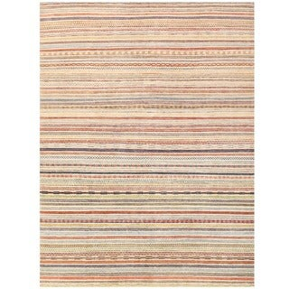 Herat Oriental Afghan Hand-knotted Gabbeh Wool Rug (8'10 x 11'8)