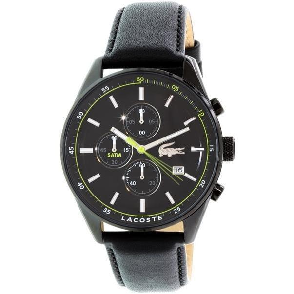 Lacoste Men's 2010785 Dublin Leather Watch (Watch), Black...