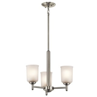 Kichler Lighting Shailene Collection 3-light Brushed Nickel Mini Chandelier