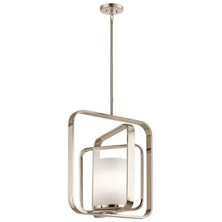 Kichler Lighting City Loft Collection 1-light Polished Nickel Chandelier/Pendant|https://ak1.ostkcdn.com/images/products/14594232/P21139294.jpg?impolicy=medium