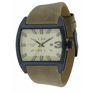 Diesel Starship Men's Leather Stainless Steel Watch
