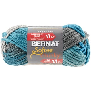 Bernat Softee Chunky Ombre Yarn-Deep Waters