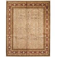 Herat Oriental Indo Hand-knotted Tabriz Wool & Silk Rug (8' x 9'10)