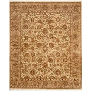 Herat Oriental Pakistani Hand-knotted Tabriz Wool & Silk Rug (8'2 x 9'9)
