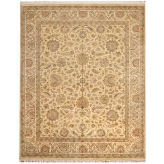 Herat Oriental Pakistani Hand-knotted Tabriz Wool & Silk Rug (8' x 9'10)