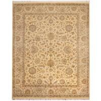 Handmade Herat Oriental Pakistani Tabriz Wool & Silk Rug  - 8' x 9'10 (Pakistan)