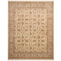 Herat Oriental Pakistani Hand-knotted Tabriz Wool & Silk Rug (8'1 x 10'4)