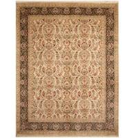 Herat Oriental Pakistani Hand-knotted Tabriz Wool & Silk Rug (8'1 x 10'5)