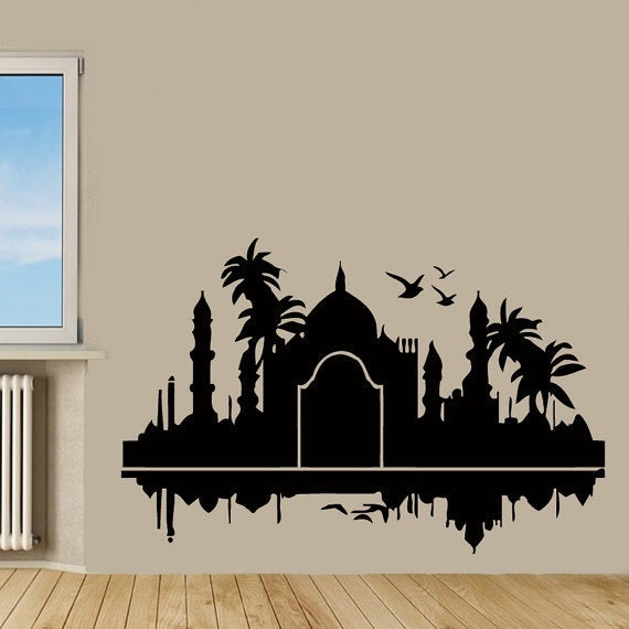 Shop Wall Decals India Design Palms Birds Home Decor Vinyl Art Wall ...