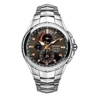Seiko Men's Diamond Coutura Perpetual Solar Alarm Chronograph Watch