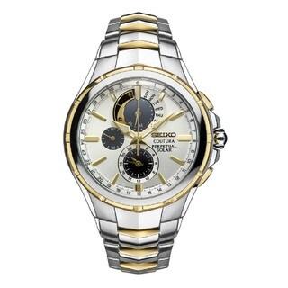 Seiko Men's SSC560 Coutura Perpetual Solar Alarm Chronograph Watch