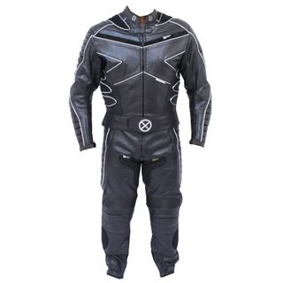 2pc X-MEN Motorcycle leather Racing Riding Track Suit CE Armor New w/ Padding