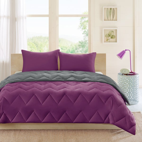 Intelligent Design Penny Microfiber Reversible Comforter Mini Set