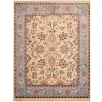 Herat Oriental Indo Hand-knotted Vegetable Dye Oushak Wool Rug (7'9 x 9'10)