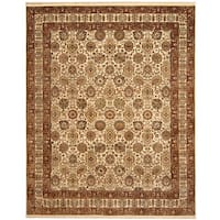 Herat Oriental Indo Hand-knotted Vegetable Dye Oushak Wool Rug (8' x 9'10)