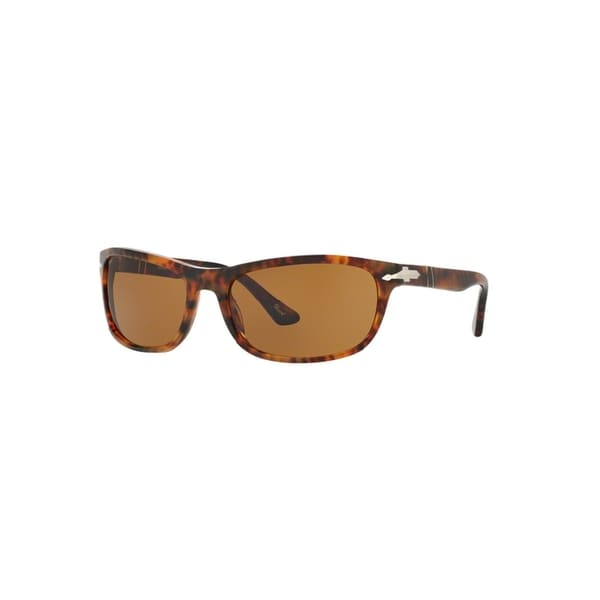 f9b817b59d Persol Men  x27 s PO3156S 108 33 63 Rectangle Plastic Havana Brown  Sunglasses