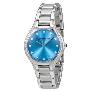 Link to Raymond Weil Women's  'Noemia' Diamond Stainless Steel Watch - Stainless Steel/Blue Similar Items in Women's Watches