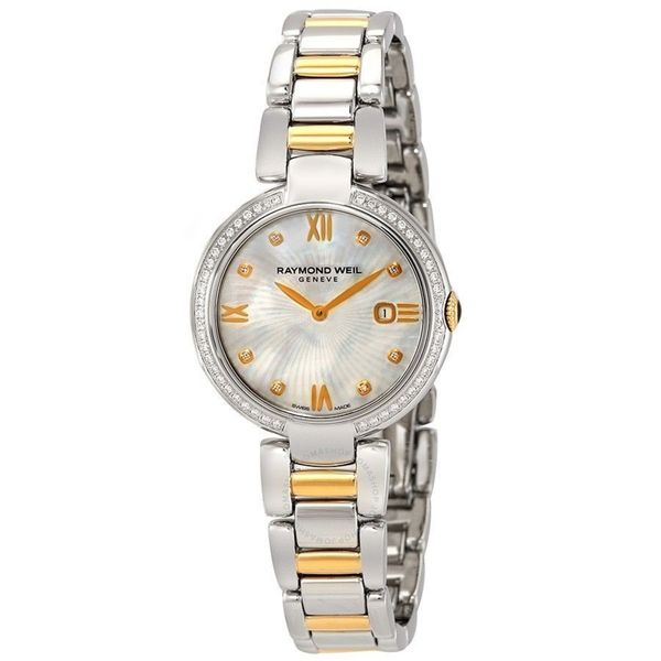 Shop Raymond Weil Women S 1600 Sps 00995 Shine Diamond Two Tone