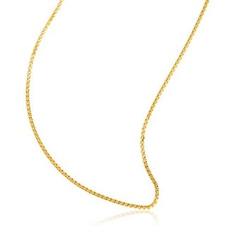 10k Yellow Gold 1.6mm Round Box Chain Hollow Necklace