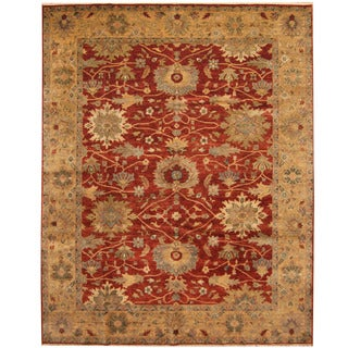 Herat Oriental Indo Hand-knotted Vegetable Dye Oushak Wool Rug (8' x 10')|https://ak1.ostkcdn.com/images/products/14594648/P21139683.jpg?_ostk_perf_=percv&impolicy=medium