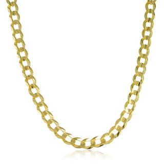 14k Yellow Gold 7mm 24-inch Cuban Curb Chain Necklace