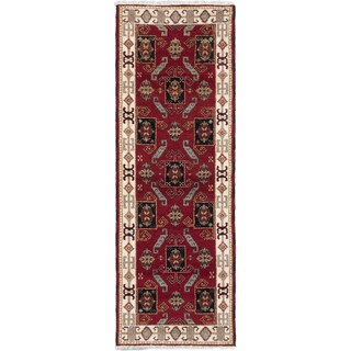 Ecarpetgallery Hand-knotted Royal Kazak Red Wool Rug (2'10 x 8'2)