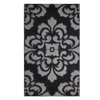 Jean Pierre Cut and Loop Portico Flat Grey/Grey Textured Decorative Accent Rug - (28 x 48 in.)