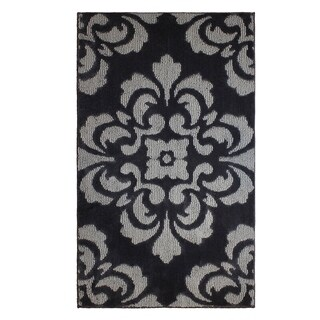 Jean Pierre Cut and Loop Portico Flat Grey/Grey Textured Decorative Accent Rug -