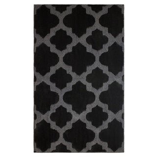Jean Pierre Cut and Loop Alessandra Black/Grey Textured Decorative Accent Rug - (28 x 48 in.)