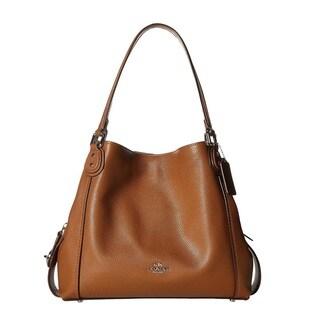 ... Coach Pebbled Leather Edie 31 Saddle Shoulder Handbag ... 8e98cef612546