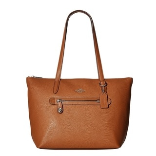 Coach Taylor Pebbled Saddle Leather Tote Bag