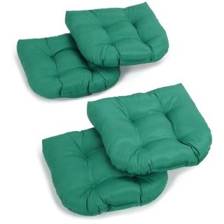 Blazing Needles 19-inch x 19-inch U-shaped Tufted Twill Chair Cushions (Set of 4) (As Is Item)