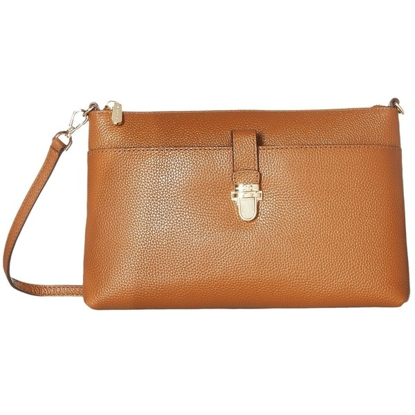 209103fd0257 Michael Kors Studio Mercer Large Luggage Brown Snap Pocket Crossbody Handbag