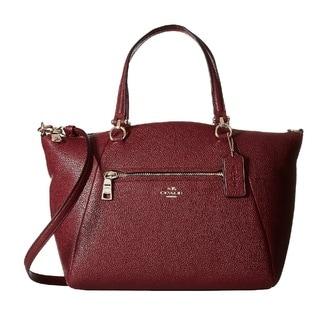 Coach Prairie Burgundy Leather Satchel Handbag